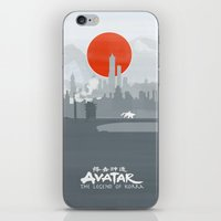 korrasami iPhone & iPod Skins featuring Avatar The Legend of Korra Poster by Fabio Castro