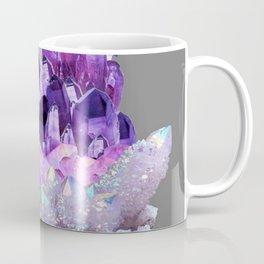 SPARKLY WHITE QUARTZ & PURPLE AMETHYST CRYSTAL Coffee Mug