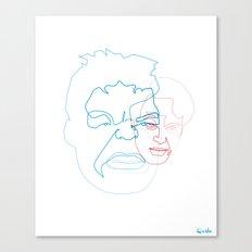 One Line Hulk/Banner Canvas Print
