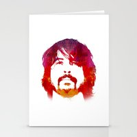 dave grohl Stationery Cards featuring D. Grohl by Fimbis