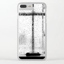 When it rains in Brooklyn Clear iPhone Case
