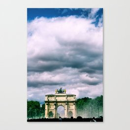 Arque du Triomphe. Paris, France. Canvas Print