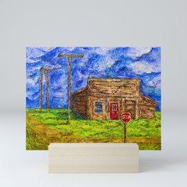Old wooden store building Canada Mini Art Print