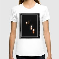 lanterns T-shirts featuring Lanterns of Healing (Japan) by Julie Maxwell
