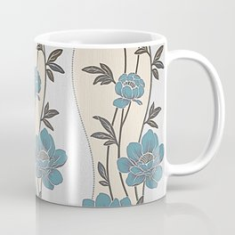 Greenish Blue Flower Garland Coffee Mug