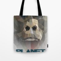 ape Tote Bags featuring ape by muszka