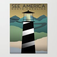 north carolina Canvas Prints featuring North Carolina by Design for Obama