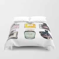 perfume Duvet Covers featuring Perfume Collection by Celine Strömbäck