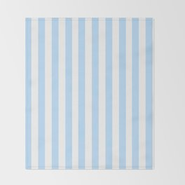Classic Seersucker Stripes in Blue + White Decke
