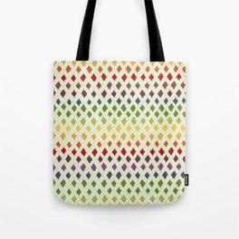 Rainbow Ikat Pattern Tote Bag