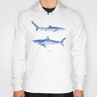 sharks Hoodies featuring Sharks by Alina Bachmann