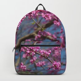 Blue skies and redbud in spring Backpack