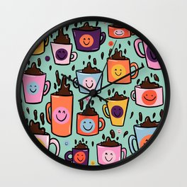 Smiley Coffee Wall Clock