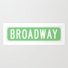 Broadway Sign Art Print