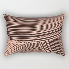 Abstract wave art - salmon pink Rectangular Pillow