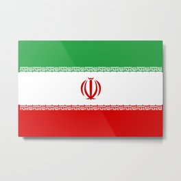 National flag of the Islamic Republic of Iran - Authentic version Metal Print