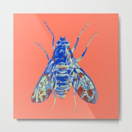 Tiger Bee Fly 2 Metal Print