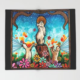 Prairie Dog Church Throw Blanket