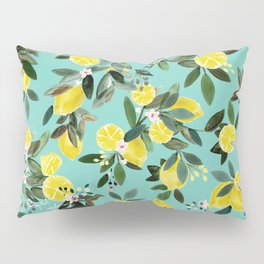Summer Lemon Floral Pillow Sham