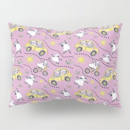 Pink Sheep in Cars Pillow Sham