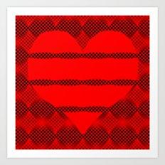Heart Illusion Art Print