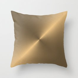 Circular metal brushed texture Throw Pillow
