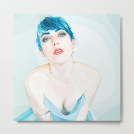 Devil with the Blue Dress and the Blue Eyes Metal Print
