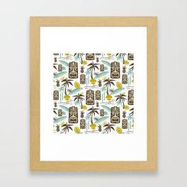 Island Tiki - White Framed Art Print