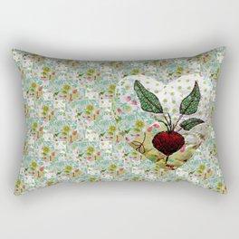 Beetroot heart Rectangular Pillow