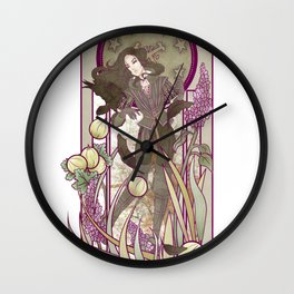 Lilac and Gooseberries Wall Clock