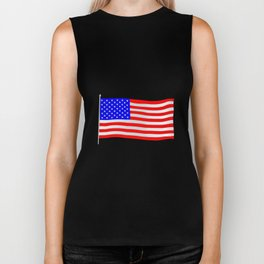 Stars and Stripes Flag Biker Tank