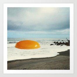Beach Egg - Sunny side up Art Print