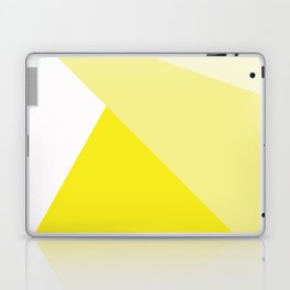 Simple Geometric Triangle Pattern - White on Yellow - Mix & Match with Simplicity of life Laptop & iPad Skin