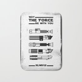 Black Brush - Star May the force be with you always Wars Bath Mat