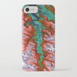 Harding, South Dakota Terrain Map iPhone Case