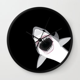 Shark Attack Out of the Deep Wall Clock