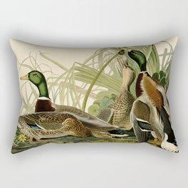 Mallard Ducks Rectangular Pillow
