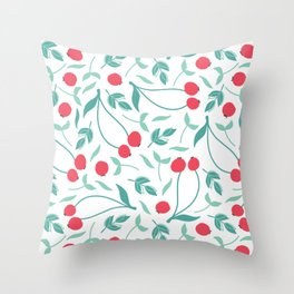 Sweet Red Cherries Throw Pillow