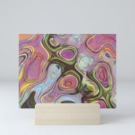 Shifting Circle Design Mini Art Print