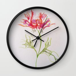 Butt Flowers Wall Clock