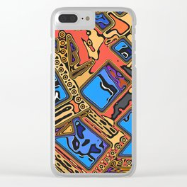 Colorful Abstract Layers Clear iPhone Case