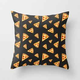 Cool and fun pizza slices pattern Throw Pillow