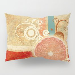 Slice of Citrus Abstract Pillow Sham