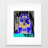 thanos Framed Art Prints featuring Thanos and Death by Yo Soy Tolentino