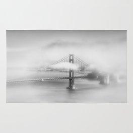 Foggy Golden Gate Bridge | monochrome Rug