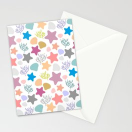 Abstract Graphic Modern Pattern Beautiful Stars Colorful Background Stationery Cards