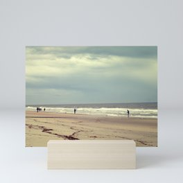Empty Beach and Fishermen Mini Art Print