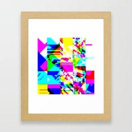 Glitch geometric pattern design artwork Framed Art Print