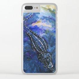 Alligator Sky Clear iPhone Case