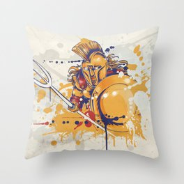 roman warrior with the trident Throw Pillow